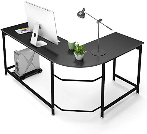 Hago Modern L-Shaped Desk Corner Computer Desk Home Office Study Workstation...