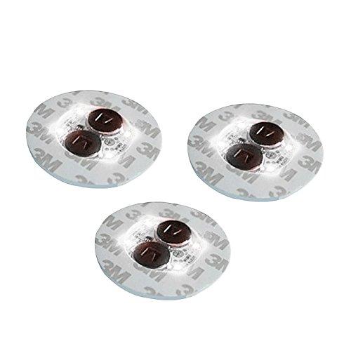 4 weiße Mini-Flaschenbeleuchtungen, Aufkleber oder Untersetzer, 3 Stück.