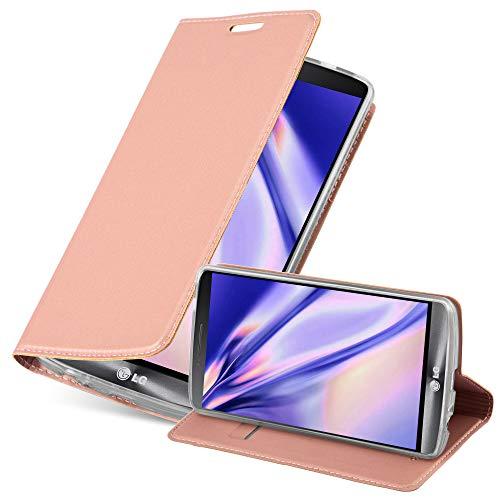 Cadorabo Funda Libro para LG G3 en Classy Oro Rosa - Cubierta Proteccíon con Cierre Magnético, Tarjetero y Función de Suporte - Etui Case Cover Carcasa