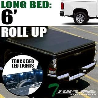 Topline Autopart Lock & Roll Up Soft Vinyl Tonneau Cover...