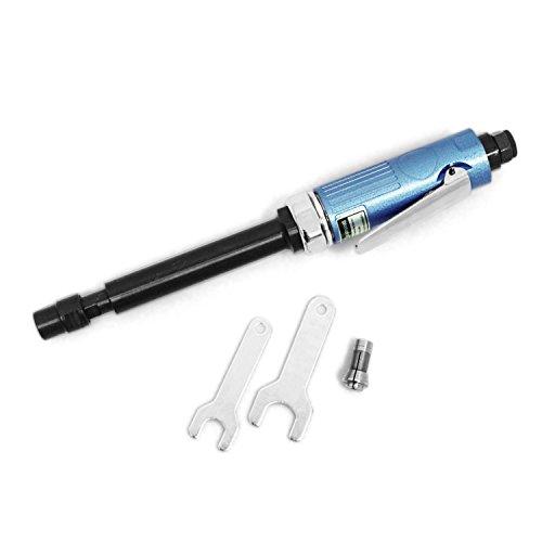 """Amoladora troqueladora profesional Molinillo recto de aire comprimido (6.35 mm 1/4""""y 3 mm 1/8"""") Largo Mini Nuevo Azul"""