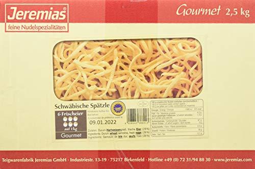 Jeremias Schwäbische Spätzle g.g.A. (geschützte geografische Angabe), Gourmet Frischei-Nudeln, 1er Pack (1 x 2.5 kg Karton)