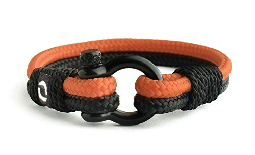 Mover Bracelets Extrem langlebiges Exklusives Herren-Seilarmband mit Schwarzem Edelstahl-Verschluss Stilvolle Handgemachte Accessoire als Armband mit Antikratz-Technologie Wasserdicht