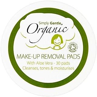 [Simply Gentle ] 単に優しいオーガニックコットンウールパックあたりリムーバーパッド30を構成します - Simply Gentle Organic Cotton Wool Make Up Remover Pads 30 per pack [並行輸入品]