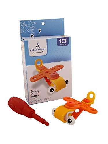 PALESTRAKI Vehículos de construcción - avión - Juguetes Infantiles Desde los 3 años - 13 Piezas