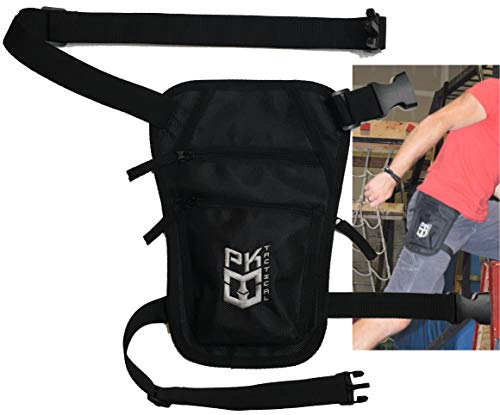 Warrior Life Gear PK Tactical Parkour/Freerunning Leg Bag, Running Belt for Extreme Athletes, Runners, Gymnasts, Ninjas, Rock Climbers and More.