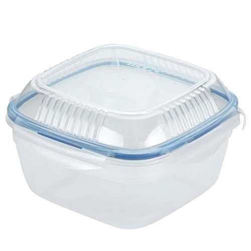 LOCK & LOCK Salat-to-go Brotdose aus Kunststoff – Salat Lunchbox mit Topping Einsatz und Dressing Behälter – 1,6 l