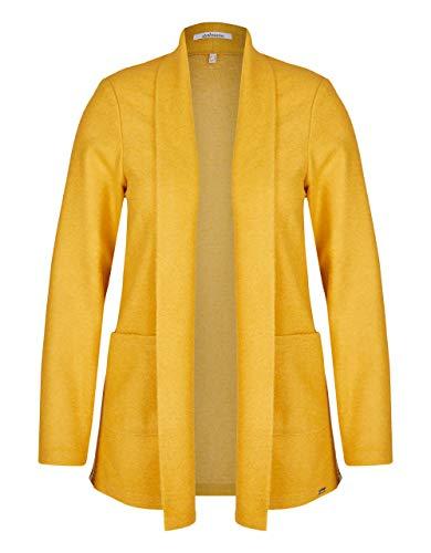 STEILMANN by Adler Mode Damen Kochwoll-Jacke mit Schalkragen und Galonstreifen goldgelb 42