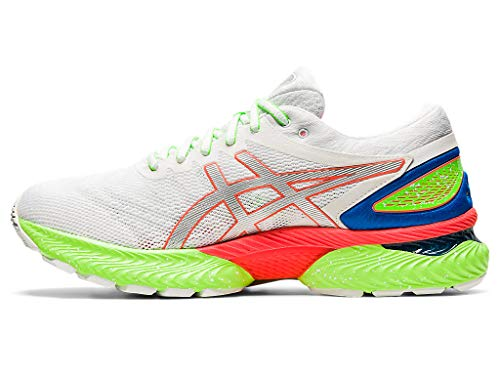 ASICS Men's Gel-Nimbus 22 Lite-Show Running Shoes, 7.5M, White/Sunrise RED