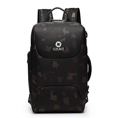 Mochila Backpack Impermeable Hombres De Alta Capacidad Antirrobo Mochila para Computadora Portátil De 15.6 Pulgadas Hombre Carga USB Bolsa Impermeable Viaje Informal De Negoci Entrega Rápida Gratuita