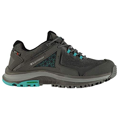Karrimor Damen Gypsum Trail Wanderschuhe Wasserdicht Hiking Trekking Schuhe Holzkohle/Blaugrün 38 EU