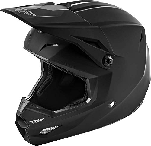 FLY Racing Kinetic Solid Helmet, Full-Face Helmet for Motocross, Off-Road, ATV, UTV, Bicycle and More (Matte Black, Large)