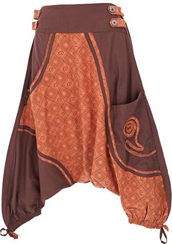 Guru-Shop, Harem Shorts, Caffè, Dicotone, Dimensione Indumenti:S (38), Pantaloncini e Pantaloni 3/4, Leggings