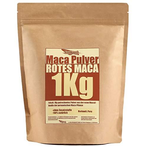 NUTRI UP Maca Pulver 1Kg - von der roten Macawurzel – 100% natürlich, ohne Zusatzstoffe | Sortenrein & Handverlesen :: Rohkostqualität aus Peru ::