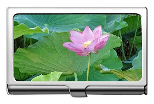 Yanteng Lotus Flower Sacred Spirituelle Kunstwerk Business Name Kartenhalter Wallet-Flower Credit Card Id Fall/Inhaber/Karten Fall