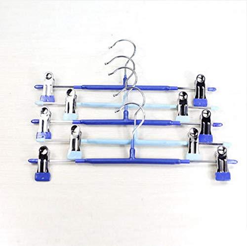 zhaoyangeng Veelzijdig En Duurzaam Pvc Gecoat Roestvrij Staal Metalen Broek Hangers/Twee Kleuren Metalen Rok Hanger 5 Stks@A