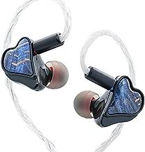 Geek Wold GK10 Wired Earbuds 5 Hybrid Driver IEM Earphones HiFi in Ear Monitor 1BA + 2DD+ 2 Piezoelectric for Audiophile