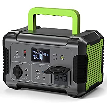 PAXCESS Portable Power Station 500W 519Wh Solar Generator with MPPT 12V Regulated Power Supply 110V Pure Sine Wave AC Outlet CPAP Backup Lithium Battery for Outdoor Camping RV Emergency Home Use