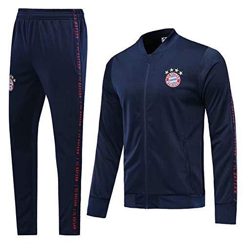 Herren-Fußballtrikot Set-Fußballuniformen Jacke Trainingsanzug Sportbekleidung UEFA Champions League Juventus Inter Mailand Anpassung Langarmtrikot, Familie (S-XL)-Royalblue-