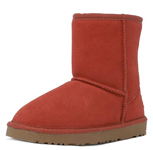 DREAM PAIRS Little Kid Shorty-K Red Sheepskin Fur Winter Snow Boots Size 12 M US Little Kid