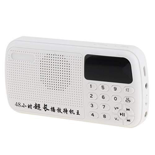 Lsmaa Radio FM con cargador USB de 3,5 mm para el hogar/al aire libre de auriculares compatible con función de grabación, altavoz de rango completo, apto para escuchar radio al aire libre