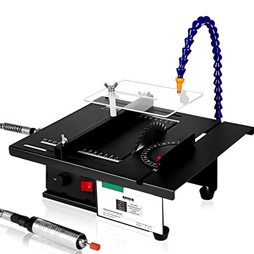 OSPRER Table Saw for Woodworking, Portable Table Saws Household Multifunctional Table Saw, Cutting, polishing and Engraving Kit, DIY Wood Cutting Polishing Engraving (Jade Suit, 300X250X155mm)