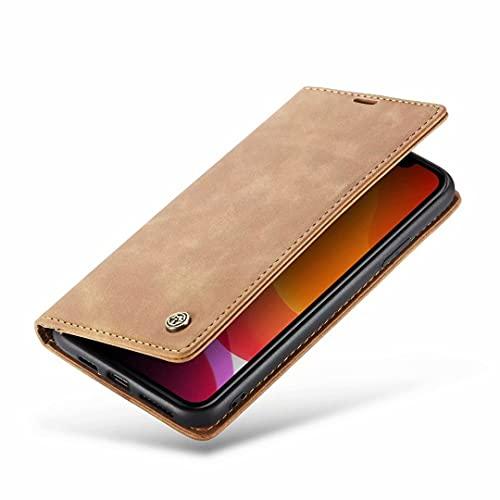 DoAo Funda para Xiaomi Mi Mix 4, con ranuras para tarjetas y soporte de visualización horizontal [Marco duradero] Funda magnética con tapa para Xiaomi Mi Mix 4 Pro, color amarillo