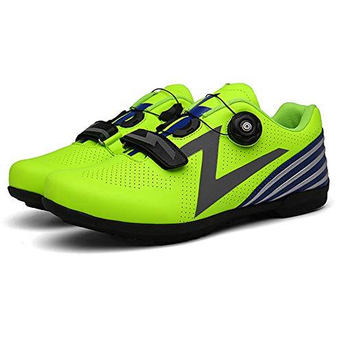 WTSXXN Unisexo Microfibras Zapatillas De Spinning Zapatillas De Ciclismo FáCil Respirable Zapatillas De Ciclismo MTB Pedal Plano Fijado Antideslizante Resistente Al Desgaste