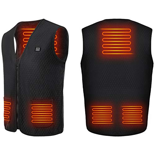 Roeam Heated VestUSB Electric Heating Vest Waistcoat Heated Clothing for Men and Women Electric Warm Vest Body Warmer Clothes in Winter Warm
