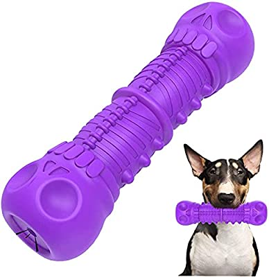 Squeaky Dog Toys for Aggressive Chewers-Almost Indestructible Dog Chew Toys for Natural Rubber, Teeth Cleaning Chews for Medium Large Dogs