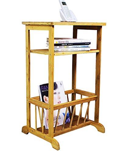 HAIPENG-zhiwujia Étagère en Bambou 3 Couches Imprimez Le Rack Salle de séjour étagère de Rangement, 41 * 36 * 70cm