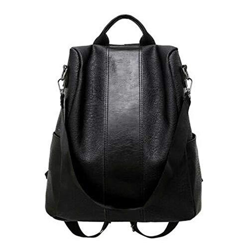 Casual PU Women Antitheft Backpack Backpacks Female Larger Capacity Shoulder Bag