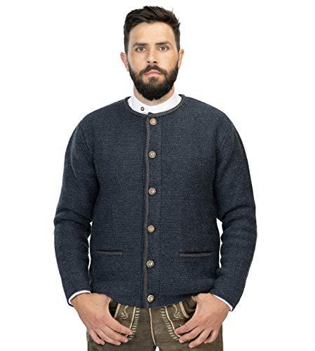 Cardigan da uomo di alta qualità Anton – Giacca in lana – Cardigan in marrone o blu – Anton Blu L