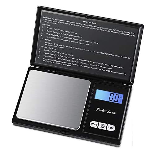 Digitale zaksieradenweegschaal 0,01 mini precisie elektronische weegschaal gewicht goud gram munten weegschaal LCD 7 eenheden 500 g / 0,01 g 1000g/0.1g