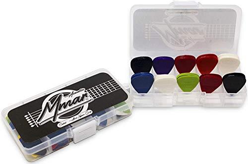 MMAR – Caja de 40 púas de nailon GRIP® para guitarra folk,...