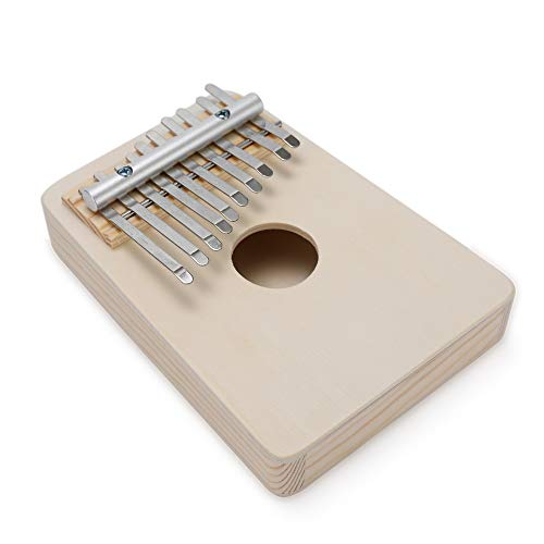 ZIEO Pocket Thumb Finger PianoEinfache Montage Kalimba Handarbeit DIY Kit Finger Daumen Klavier (Size: One Size; Color:Wood1)