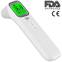 AOJ No-Touch Thermometer for Body Temperature, FDA/CE Approved Non-Contact Forehead Digital Thermometer, Medial Grade, 1 Second Measure, U.S. Store, Same-Day Shipping, Cut-Off time of 2pm PST