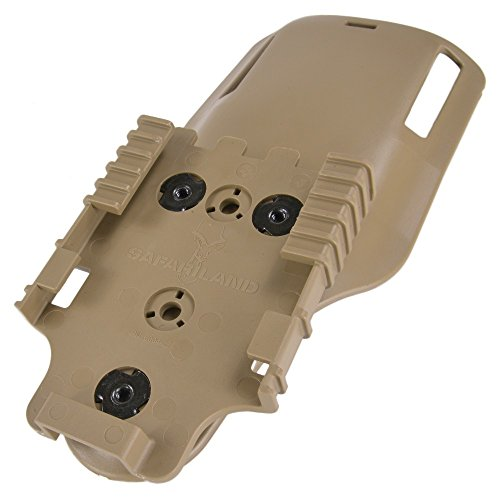 Safariland Low Ride 2 Ubl Belt Loop, Tan, with Molle 22 Receiver 6075UBL-552MS22