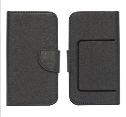 Universell kompatibel mit Huawei Ascend Y635 Y635-L03 Y635-L21 Y635-TL00 Hülle Cover Hülle Flip Book Stand mit Innenhaken 360° drehbar Magnet Brieftasche Kunstleder