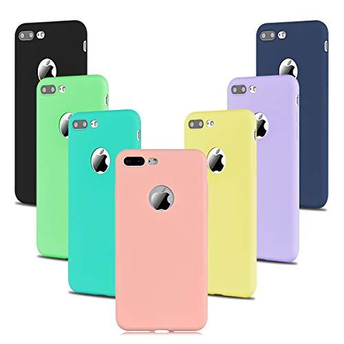 7 x Custodia per Xiaomi Redmi Note 8 Pro in TPU Opaco, Morbido TPU Custodia Cover Slim Anti Scivolo Custodia Protezione Posteriore Cover Compatibile con iPhone 8 Only[Taglio Preciso] - Candy Color