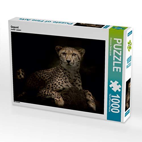 CALVENDO Puzzle Gepard 1000 Teile Lege-Größe 64 x 48 cm Foto-Puzzle Bild von Eleonore Swierczyna