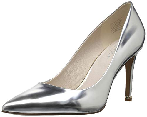 Kenneth Cole New York Women's Riley 85 MM Pump, Silver, 8 M US