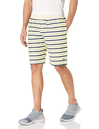 Champion Reverse Weave Cut Off Short-AOP Pantalones Cortos, Texto Rayas Tiza Blanca, 54 para Hombre