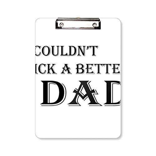 Kies een betere vader Vader Festival citaat Clipboard map schrijven Pad Backing Plate A4