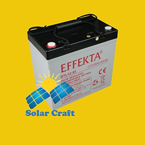 EFFEKTA Batterie Akku 55Ah wt-sg55elektromoeur Belastung Solarpanel PV