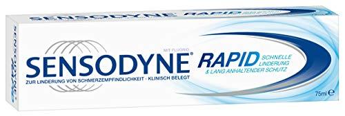 SENSODYNE Rapid Zahnpasta, Mit Fluorid, 1x75ml, Bei Schmerzempfindlichen Zähnen