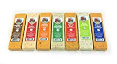 Farmers Market Cheese Blocks Sampler 7oz each (7 blocks) Let us know if you want all one flavor. NO GHOST PEPPER WE WILL REPLACE WITH HABANERO. If out of a flavor we may have to replace with another.