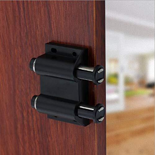 [2 piezas] Pestillo de la puerta del gabinete, pestillo táctil magnético, hardware negro del pestillo de apertura con imán del gabinete (Doble cabeza)