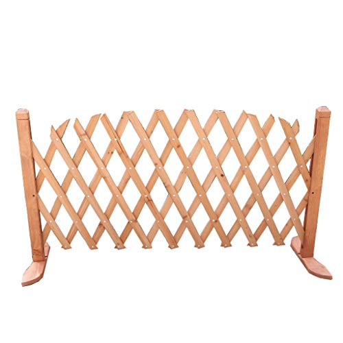 HJHL Garden fencing panels Outdoor Wood Preservative Vine Flower Stand Solid Wood Expandable Fence Balcony Plant Flower Compartment Indoor Fence Wooden Pet Fence
