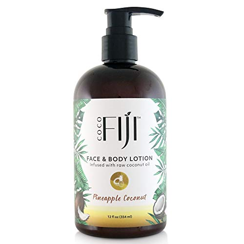 Coco Fiji, Coconut Oil Infused Face & Body Lotion, Pineapple Coconut 12oz -1pack